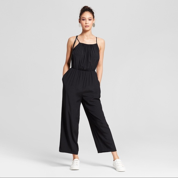 Mossimo Supply Co. Pants - Jumpsuit with Shirred Neckline - Black